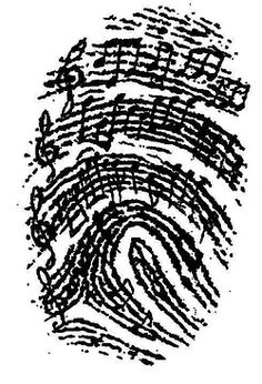 Music as Identity – for junior high and college, too! It would be awesome to use someone you love's fingerprint and notes from a song that makes you think of them, incorporated into a tattoo… Tattoo Und Piercing, Music Tattoos, Sheet Music Tattoo, Sheet Music Art, Key Tattoos, Tribal Tattoos, Music Quotes, Music Lovers, Music Is Life