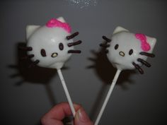 Hello Kitty Cake Pops Crafted by: ~Cake Pops By AJ~