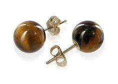 14 KT Yellow Gold 10mm Round Tiger Eye Post Stud Earrings Gem Avenue. $36.99. 14k Yellow Back Post Findings. Tiger Eye Stud Earrings. 10mm Round. Gem Avenue sku # PNEG056. Made in 14 KT Yellow Gold. Save 59% Off!