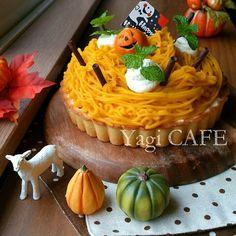 秋色♡かぼちゃのモンブランタルト