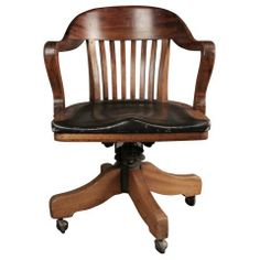 1940s swivel banker chair at 1stdibs