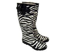 zebra rain boots