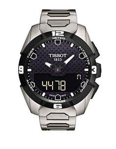 Tissot Mens T Touch Solar Chronograph Watch Women's Black