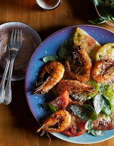 Nina Compton's Recipe for Shrimp With Tomato Salad and Aioli