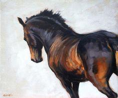 Prachtige paarden paard kunst LE dressuur beweging gebaseerd