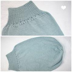 Pucksack stricken - Knitting a Baby Romper Bag (free pattern in German)