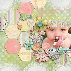 luv the hexagons & colors