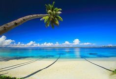 Kautu, in the Republic of Kiribati, Pacific Ocean. Even more inviting is that the shadows look like swim lanes. Beautiful World, Beautiful Places, Beautiful Scenery, Beautiful Islands, Simply Beautiful, Amazing Places, Free Vacations, Tropical Paradise, Paradise Bay
