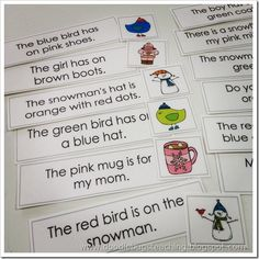 Doodlebugsteaching: match picture to sentence to build fluency and comprehension