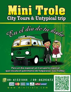 contáctanos! mail: info@minitrole.cl celular: +56 9 61531044 / +56 9 66293672 fanpage:https://www.facebook.com/mini.trole twitter: @MiniTrole_tours