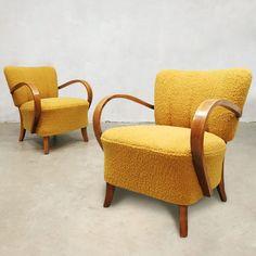 For sale: 2 x vintage art deco armchair by Jindrich Halabala, Apartment Master Bedroom, Prague Apartment, Vintage Designs, Vintage Art, Retro Fashion, 1950s, Armchair, Art Deco, Lounge Chairs