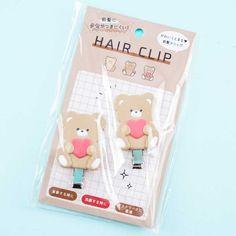 Bears & Hearts Hair Clip Set - Blippo Kawaii Shop