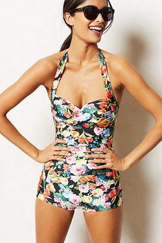 Seafolly Summer Garden Boyleg Maillot One Piece - Swim Suit Season - Extraordinary Fashion Blog