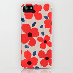 Dogwood_Red - iPhone Case by Garima Dhawan/Society6