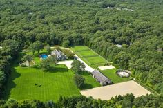 The property has over five acres of land Dream Stables, Horse Stables, Horse Farms, Dream Barn, Hamptons House, The Hamptons, Horse Farm Layout, Bluestone Patio, Dream Properties