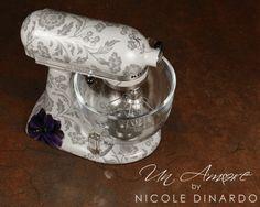 Purple Anemone custom painted KitchenAid Mixer by Nicole Dinardo of Un Amore.