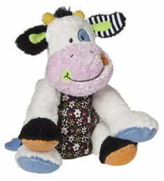 "Homemade Stuffed Animals   Mary Meyer Cheery Cheeks Carefree Cow 14"" - Free Shipping"