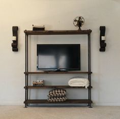 Industrial Entertainment Center - TV Stand - Media Center - Living Room Furniture