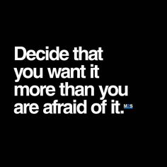 If you don't want it bad enough, the fear will always come first. — Check out our YouTube videos for more study motivation! @motivation2study