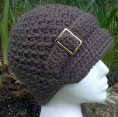 Woman's Newsboy Hat L/XL  ready to ship  other by BlackCatStitches, $26.00