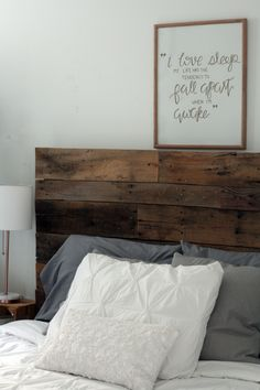 My dad helped me make a pallet headboard for my bedroom. It was inexpensive and only took a few hours. Now I have a perfect bedroom centerpiece. (Diy Pallet Headboard)