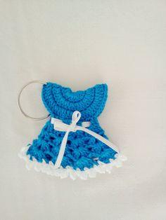 Crochet baby frock keyring