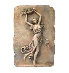 Relieve Ménade con Cesto | Arte neoclásico | Modelado artesanal