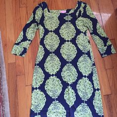 Lily Pulitzer dress Navy and green knit Lily Pulitzer dress Lilly Pulitzer Dresses