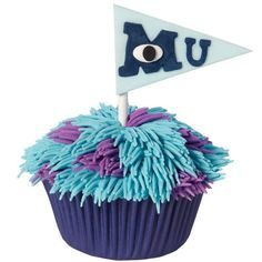 Celebrate Mike's and Sulley's first year at good, ole Monster University with these fun cupcakes. Create the textured icing technique using the Wilton Decorating Tip 233.