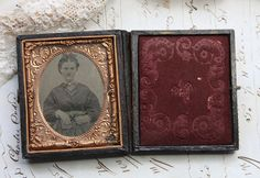 Antique Tintype Photo in Embossed Victorian by VintageSupplyCo