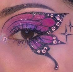 Dope Makeup, Edgy Makeup, Makeup Eye Looks, Eye Makeup Art, No Eyeliner Makeup, Pretty Makeup, Makeup Inspo, Makeup Inspiration, Crazy Makeup