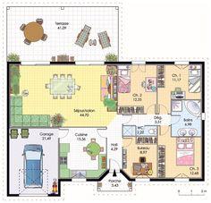 couleurs villa vous propose la villa galane, moderne ... - Plan Maison Etage 4 Chambres Gratuit