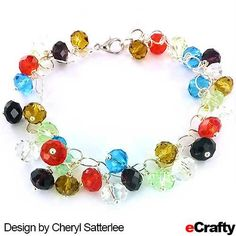 For this sparkling bracelet, Cheryl paired eCrafty.com's jump rings with our crystal faceted rainbow rondelle beads resulting in a simple project with big results.  #rainbow #beads #jump-rings #jewelry-supplies #rondelle #diy #crafts #beading #ecrafty #etsy #handmade. This project uses only four items! For instructions., clickable supply list & links, read on!
