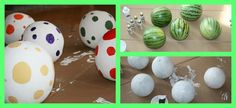 dino egg hunt! Paint watermelon and honeydew melons and have a dino egg hunt! CUTE!