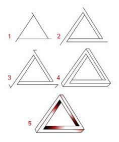 Draw An Impossible Triangle Drawings Pinterest Drawings Art