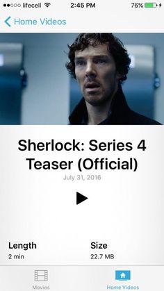 Sherlock Holmes on iPhone, home videos