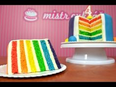 Rainbow Cake - HOW TO TUTORIAL. How to make a rainbow cake - inspirational cake decorating video. Our instructor is using Wilton icing colours. Enjoy the cake ! Wilton Icing, Cupcake Icing, Frosting, Cupcakes, Rainbow Icing, Icing Colors, Cake Decorating Videos, Cake Tutorial, No Bake Cake