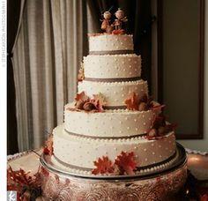 Beautiful Fall Wedding Ideas... #myfauxdiamond #weddings #bride #jewelry  The Cake