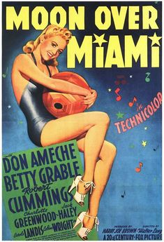 MOON OVER MIAMI (1941) Betty Grable, Don Ameche