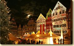 """Tübingen, Germany - two December, 2014 highlights ... the  """"chocolART Chocolate Festival"""" and the """"Christmas Market."""""""