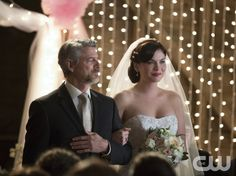 """Vampire Diaries -- """"I'll Wed You in The Golden Summertime"""" -- Image Number: VD621b_0501.jpg -- Pictured (L-R): Christopher Cousins as Joshua and Jodi Lyn O'Keefe as Jo -- Photo: Bob Mahoney/The CW -- © 2015 The CW Network, LLC. All rights reserved."""
