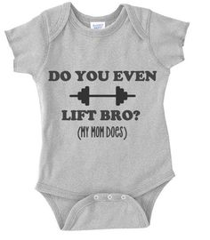 My mom does body suit - Funny Baby Bodysuit - Baby Shower GIft - Gym Shirt  - Funny Shirt - Crossfit 361fa626ebc