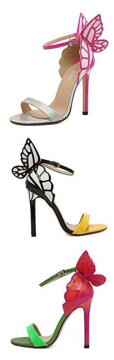 Stiletto Heel Sandals with Butterfly ==