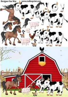 Farm Fun Decoupage