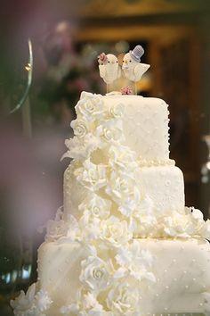 Bolo de casamento - Decoração Romântica