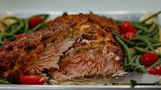 Poisson en croûte de pain au fromage de Marc Maula | 5 chefs dans ma cuisine | ICI Radio-Canada.ca Marina Orsini, Meatloaf, Chefs, Fruit, Canada, Fish, Cheese Bread, White Bread, Meat Loaf