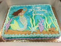 Mermaid cake done in buttercream