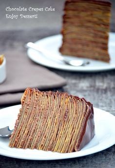 Crepe Cake Chocolate, Chocolate Crepes, Homemade Chocolate, Best Cake Recipes, Food Cakes, Something Sweet, Cakes And More, Nutella, Sweet Tooth