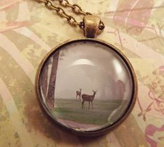 'Deer in the Clearing Pendant Necklace' is going up for auction at 11am Sat, Sep 8 with a starting bid of $5.