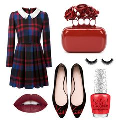 """""""Pretty red"""" by ai0807 on Polyvore featuring Kate Spade, Alexander McQueen, women's clothing, women, female, woman, misses and juniors"""